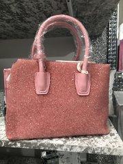 Stunning Alex Max® Crystal front Pink handbag