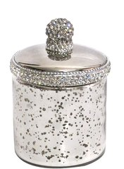 Sparkle antique jar with crystal detail - medium
