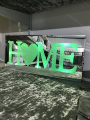 LED colour changing HOME mirror plaque sign frame colour option