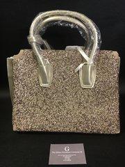 Stunning crystal front Alex Max® gold handbag