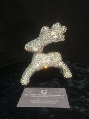 Stunning Diamante nickel Glitz reindeer - full crystal
