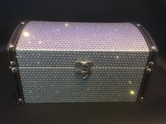 Beautiful Silver Glitter chest/chests jewellery box - medium