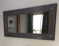 Stunning The Glitter Furniture Company crackle Glitter and velvet Mirror - large - colour options