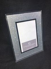 Beautiful silver glitter photo frame - 4x6cm