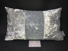 Middle bar silver senso crushed velvet - silver glitter cushion