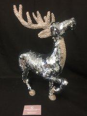 Beautiful sequin prancing reindeer 47cm high