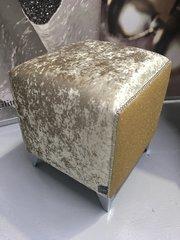 Stunning Sparkle chartreuse Gold crushed velvet - Gold disco glitter cube