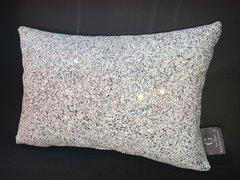 Stunning Claira glitter cushion SilverDisco/white
