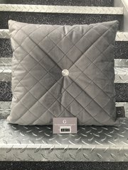 Beautiful soft touch quilted diamond Swarovski crystal button scatter cushion - colour options