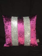 Beautiful Ava Fuschia with silver crackle glitter scatter cushion