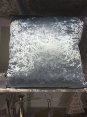 Stunning Cambridge blue plain velvet scatter cushion