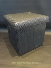 Stunning black storage box with silver glitter