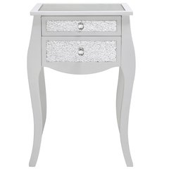 Beautiful 2 drawer mosaic and white wood drawer