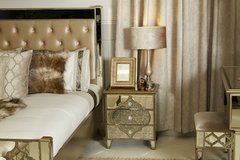 Beautiful Dubai collection 3 drawer bedside cabinet