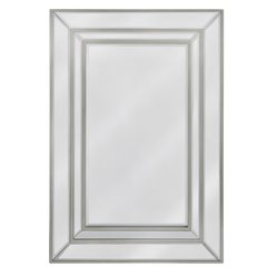 Ellaganza collection - champaign wood and mirror wall mirror