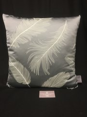 Stunning grey feather scatter cushion