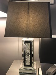 Beautiful Floating crystal and mirror table lamp with black detail