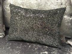 Stunning Grey Claira cushion - crackle glitter Grey 14x10inch