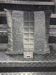 Stunning quilted soft touch velvet & glitter Ava scatter cushion - colour options