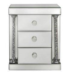 Stunning Magna crystal & mirror 3 drawer jewellery box