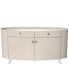 Beautiful Voke light Ivory & Walnut 2 drawer - 2 door sideboard