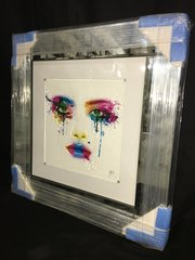 Stunning colour face detail picture - mirror frame