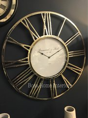 Stunning Large round nickel wall clock 65cm