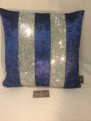 Stunning Ava midnight blue velvet with silver glitter
