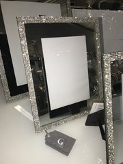 Stunning mirror & sparkle glitz photo frame - size options