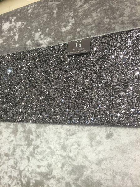 Grey Wall Art gunmetal grey wall art large gunmetal glitter medium | the glitter
