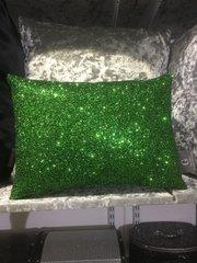 Stunning Green glitter Claira cushion