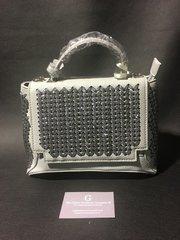 Stunning Alex Max® Grey Glitter mini handbag