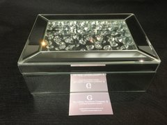 Beautiful mirror floating crystal jewellery box