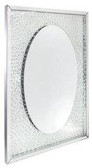 beautiful floating crystal oval wall mirror
