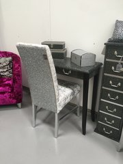 Beautiful glitter and velvet bedroom chair / dressing table chair - colour options