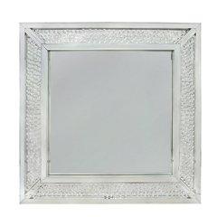 Beautiful floating crystal wall mirror - large