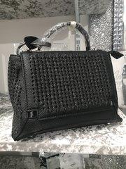 Stunning Alex Max® black/ black glitter mini handbag