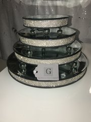 Stunning Sparkle glitz candle plates/ cake stands - size options