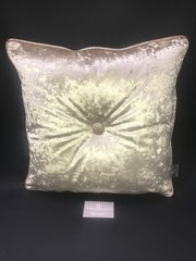 Stunning Chartruse Gold - glitter Champagne pipe & large button scatter cushion
