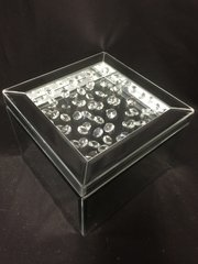 Stunning floating crystal and mirror jewellery box