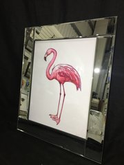 sparkle wall art - pink flamingo with pink glitter sparkle