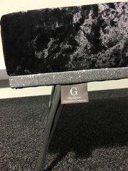 Stunning Crushed velvet - Swarovski Buttons - Glitter footstool - colour options