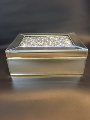 Beautiful Mirror and crystal jewellery box