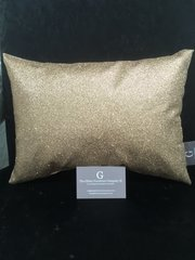 Beautiful Bailey Glitter champagne gold scatter cushion 14x10 inch