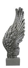 Beautiful Antique silver Right angel wing on stand 49.5cm tall