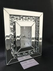Beautiful Mirror and floating crystal mantel clock