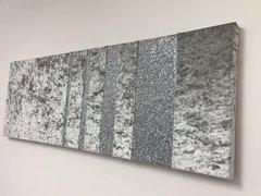 large silver velvet - silver glitter barcode wall art