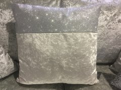Beautiful Topbar Pearl white crushed velvet scatter cushion disco glitter