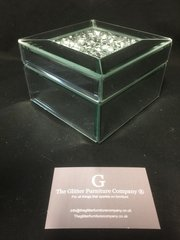 Stunning mini mirror and crystal jewellery box
