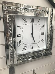 Stunning Triple bar and floating crystal wall clock